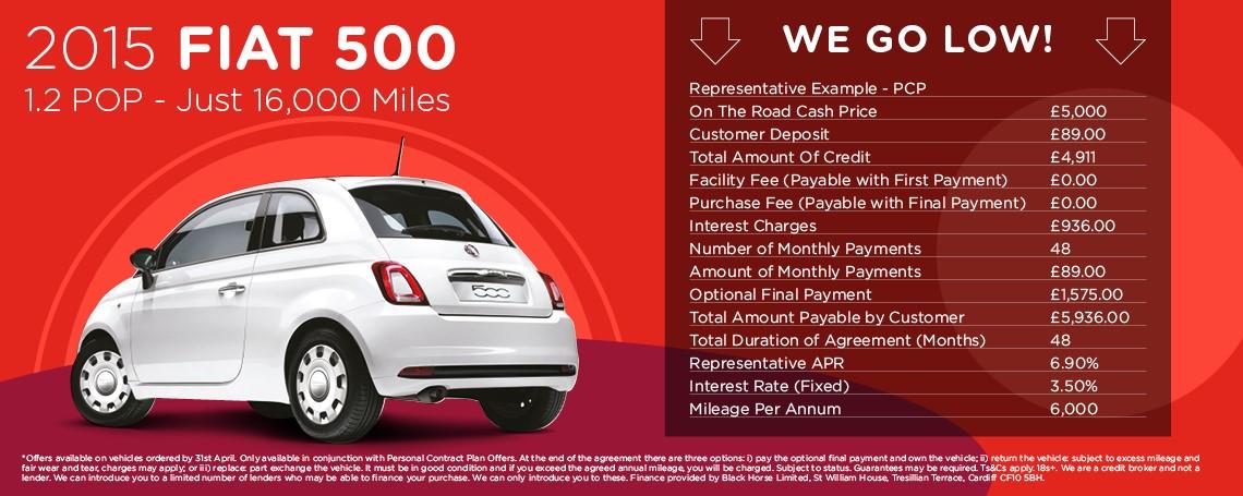 Fiat 500 Go Low Deal