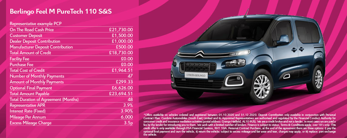 Citroen Berlingo Feel M 110 Q4 Offer