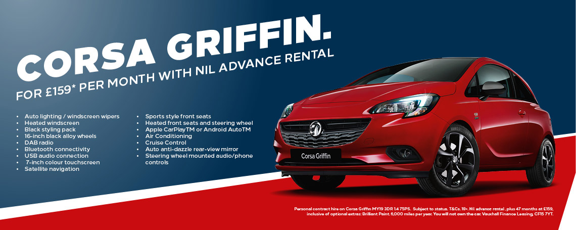 Vauxhall Corsa Griffin Contract Hire Offer