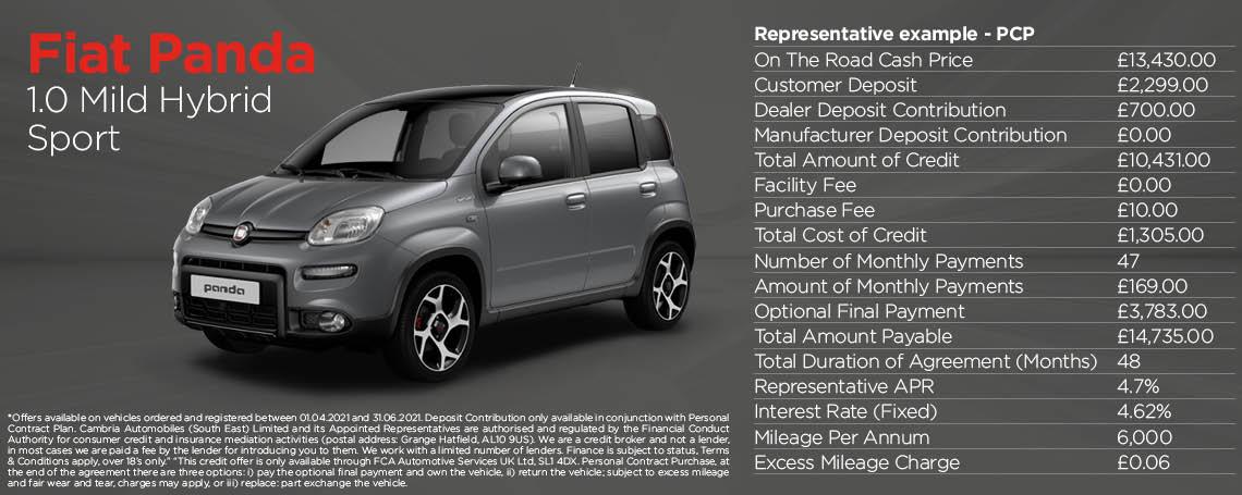 Fiat Panda Mild Hybrid Sport Q2 2021 Offer