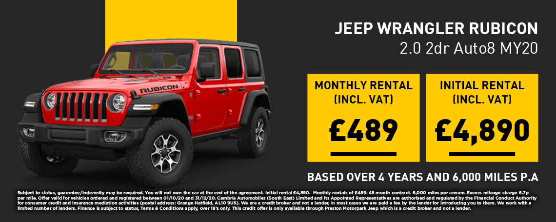 New Jeep Wrangler 2DR Rubicon PCH Q4 Offer