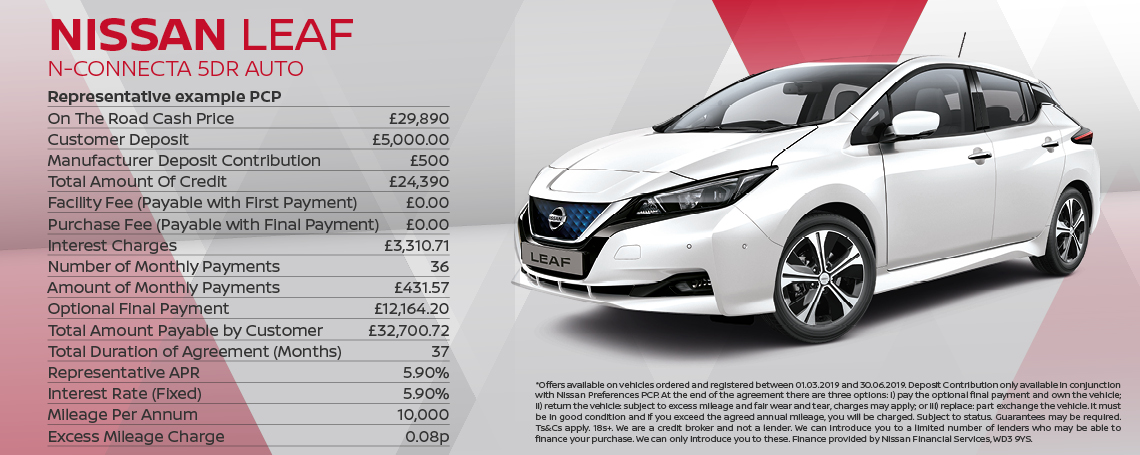 Nissan Leaf N-Connecta Offer