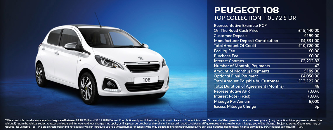 Peugeot 108 Top Collection Offer