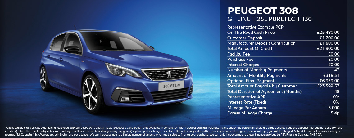 Peugeot 308 GT Line Offers