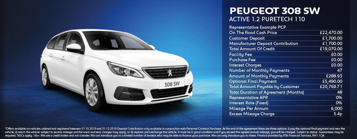 Peugeot 308 SW Active 1.2 Puretech 110