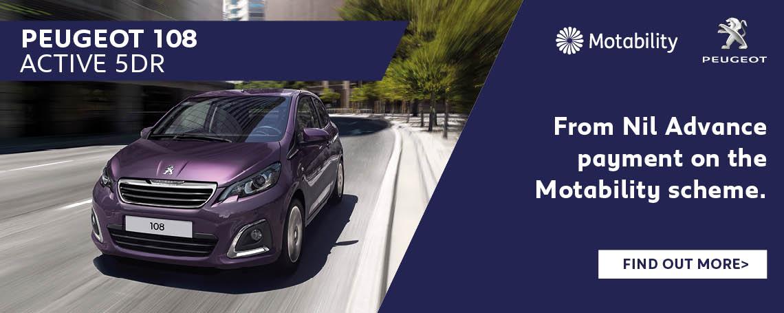 Peugeot 108 Motability Offer