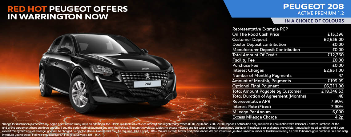 All New Peugeot 208 Active Premium Q3 Hot Offer