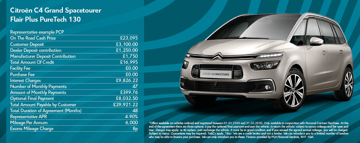 Citroen Grand C4 SpaceTourer Offer
