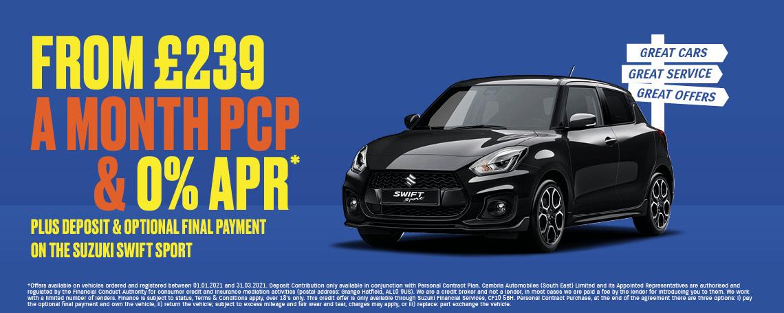 New Suzuki Swift Sport Q1 2021 Offer