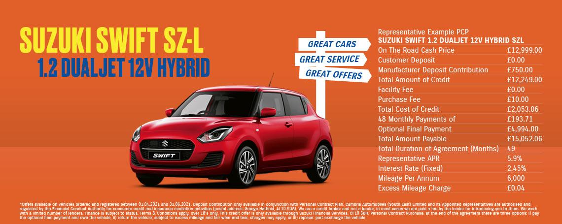 Suzuki Swift SZ-L Q1 Offer