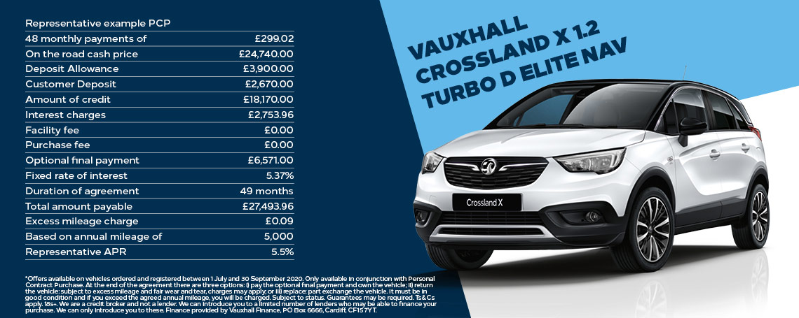 Vauxhall Crossland X Turbo Elite Nav Offer