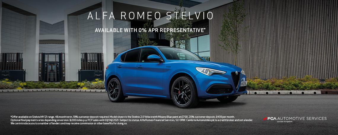 Alfa Romeo Stelvio - Available 0% APR Representative
