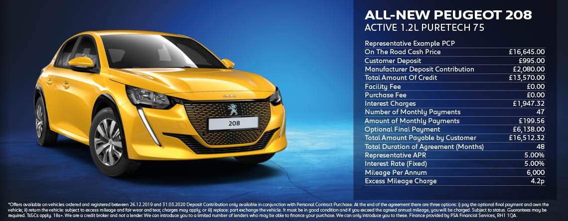 All New Peugeot 208 Active