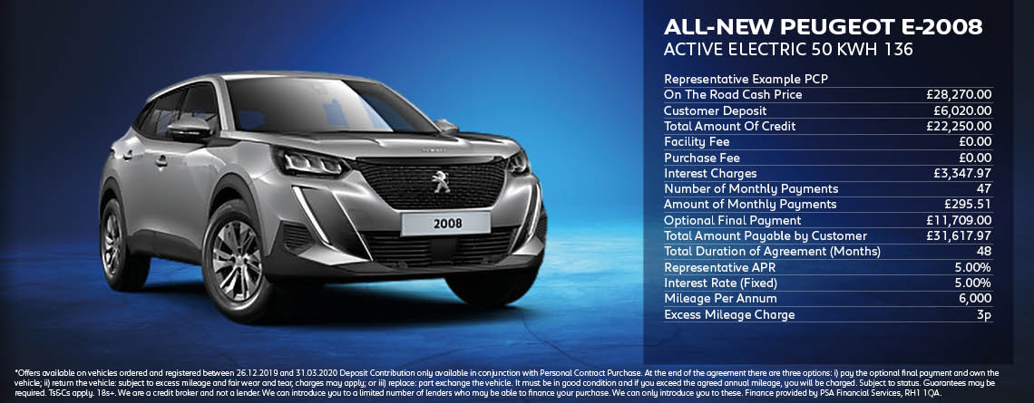 All New Peugeot e2008 Active
