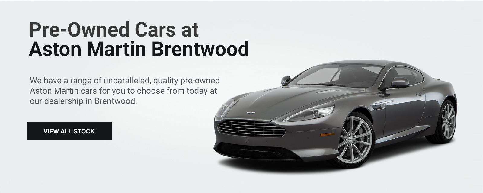 Pre-Owned Cars at Aston Martin Brentwood