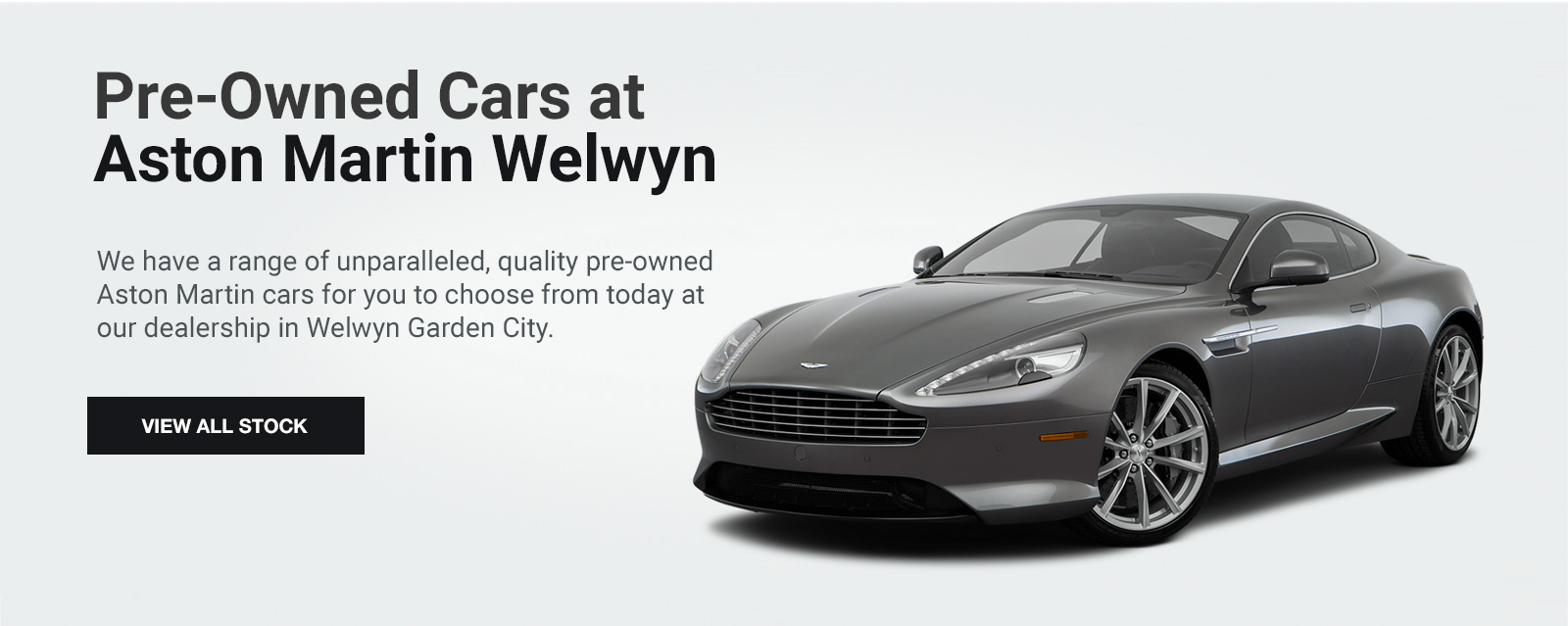Pre-Owned Cars at Aston Martin Welwyn