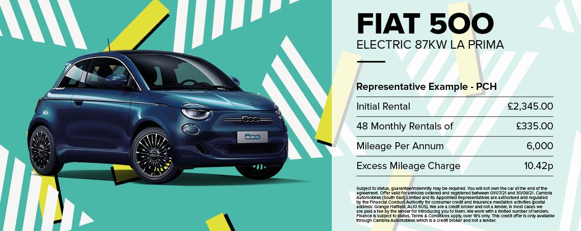 New Fiat 500-e La Prima Q3 Offer
