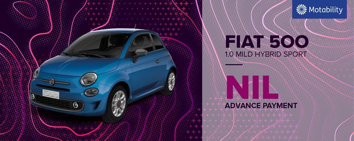 Fiat 500 Mild Hybrid Sport Motability Offers