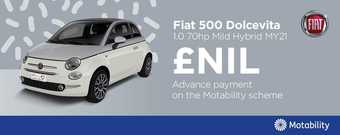 Fiat 500 Mild Hybrid Motab