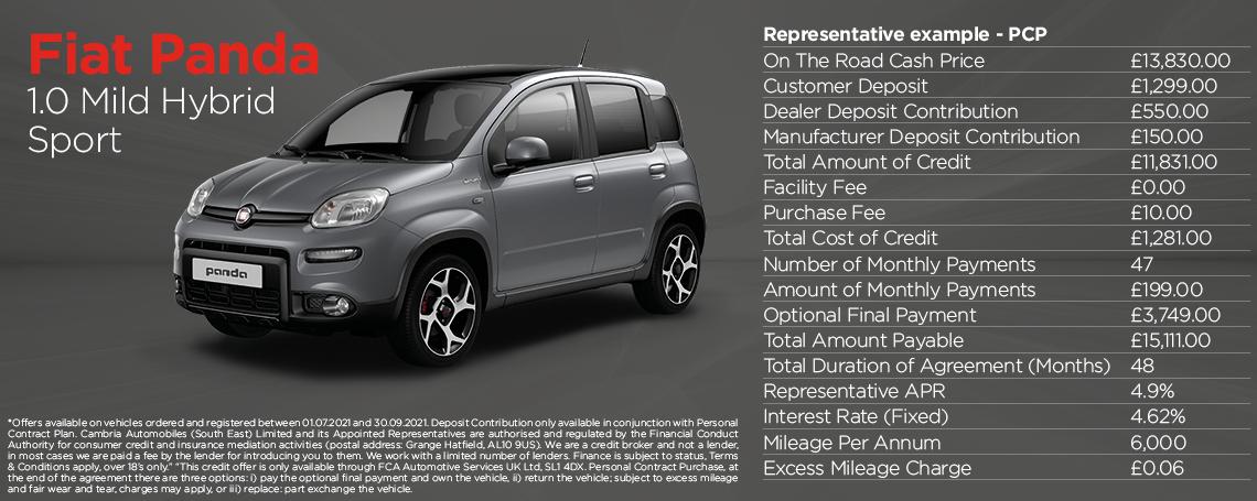 Fiat Panda Mild Hybrid Sport Q3 2021 Offer