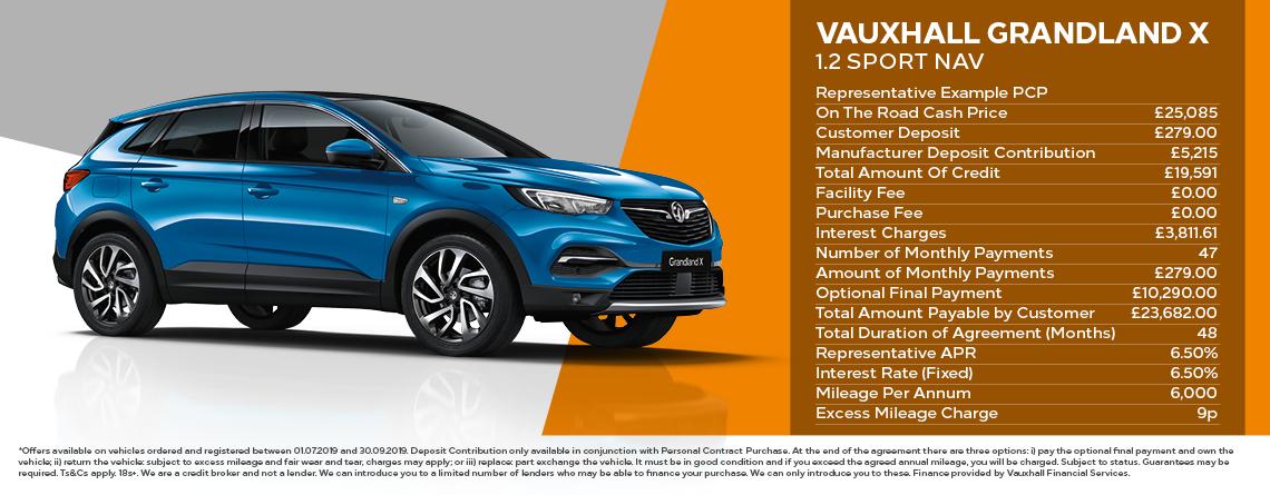 Vauxhall Grandland X Sport Nav Personal Contract Purchase