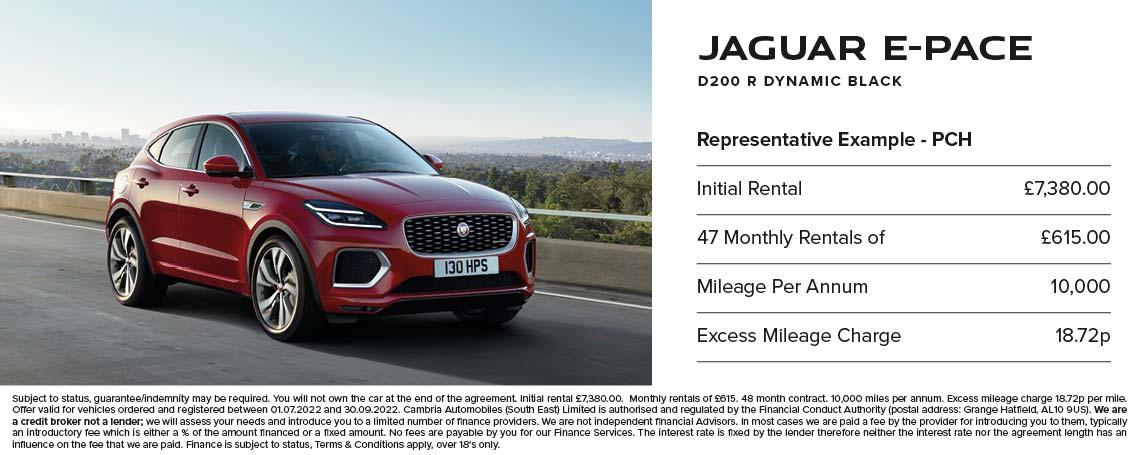 Jaguar E-PACE PCH Offer