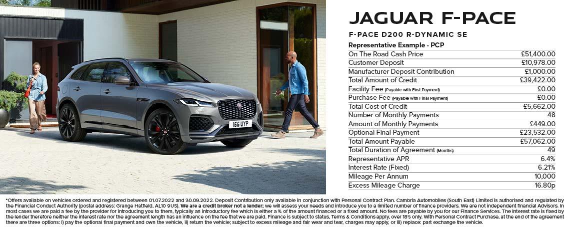 Jaguar F-PACE PCP Offer