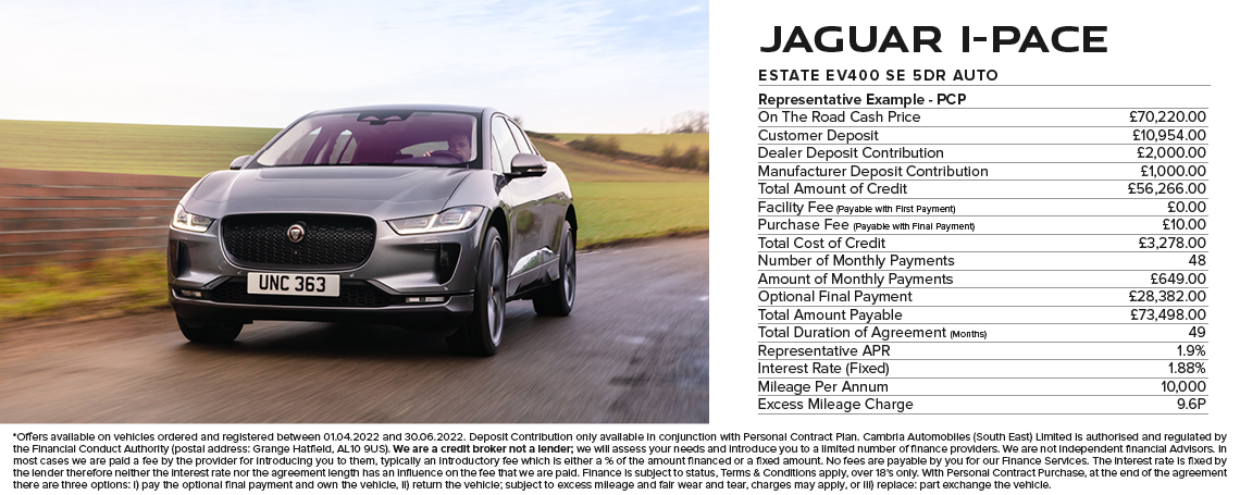 Jaguar I-PACE PCP Offer