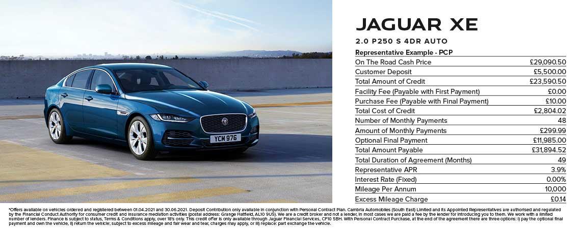 Jaguar XE Offer