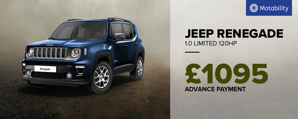 New Jeep Renegade Night Eagle Motab Offer