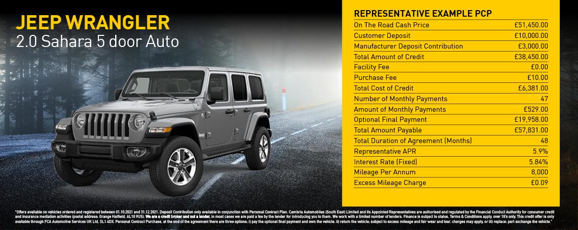 New Jeep Wrangler Sahara 2021 Q1 Offer
