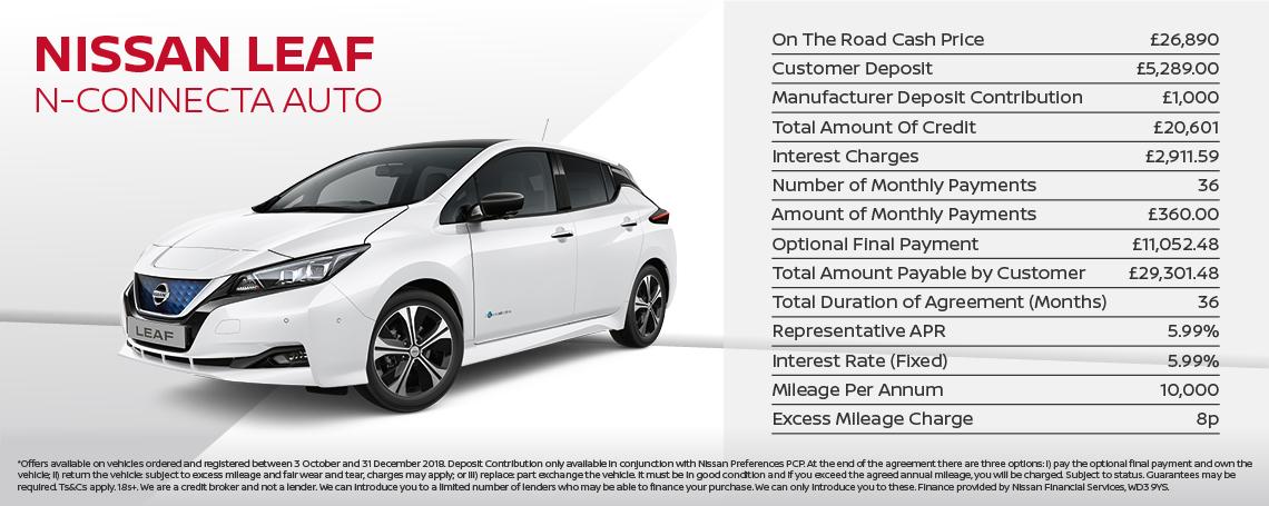 New Nissan Leaf Offer