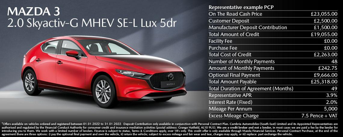 New Mazda 3 Offer