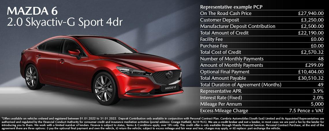 Mazda 6 Sport 2021 Q4 Offer