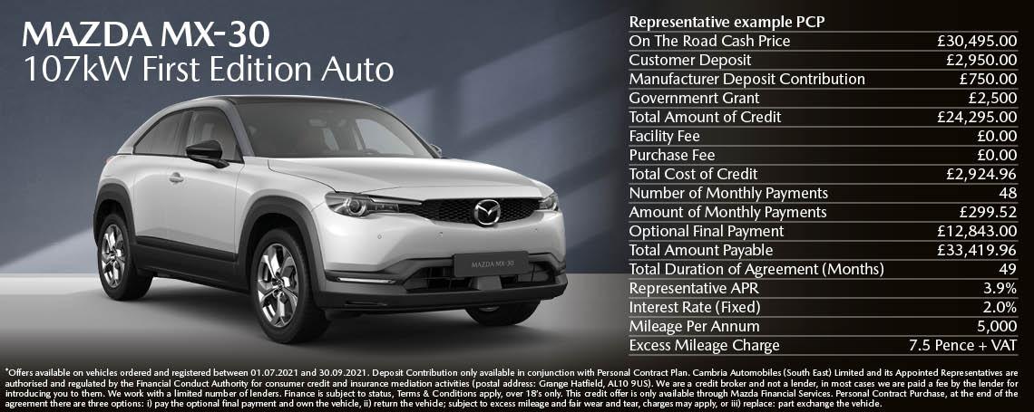 New Mazda MX-30 PCH Offer