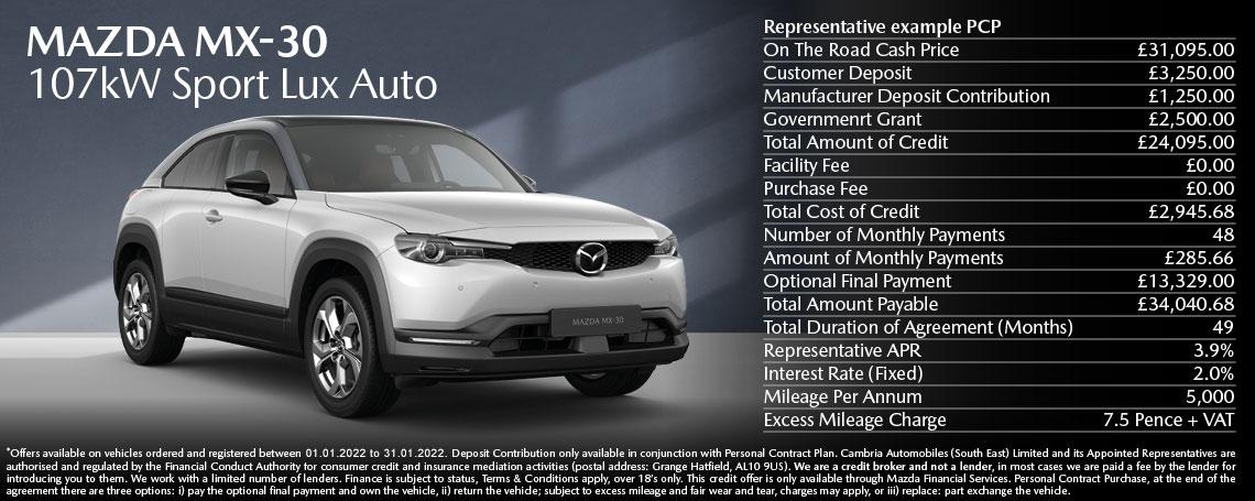 New Mazda MX-30 Offer