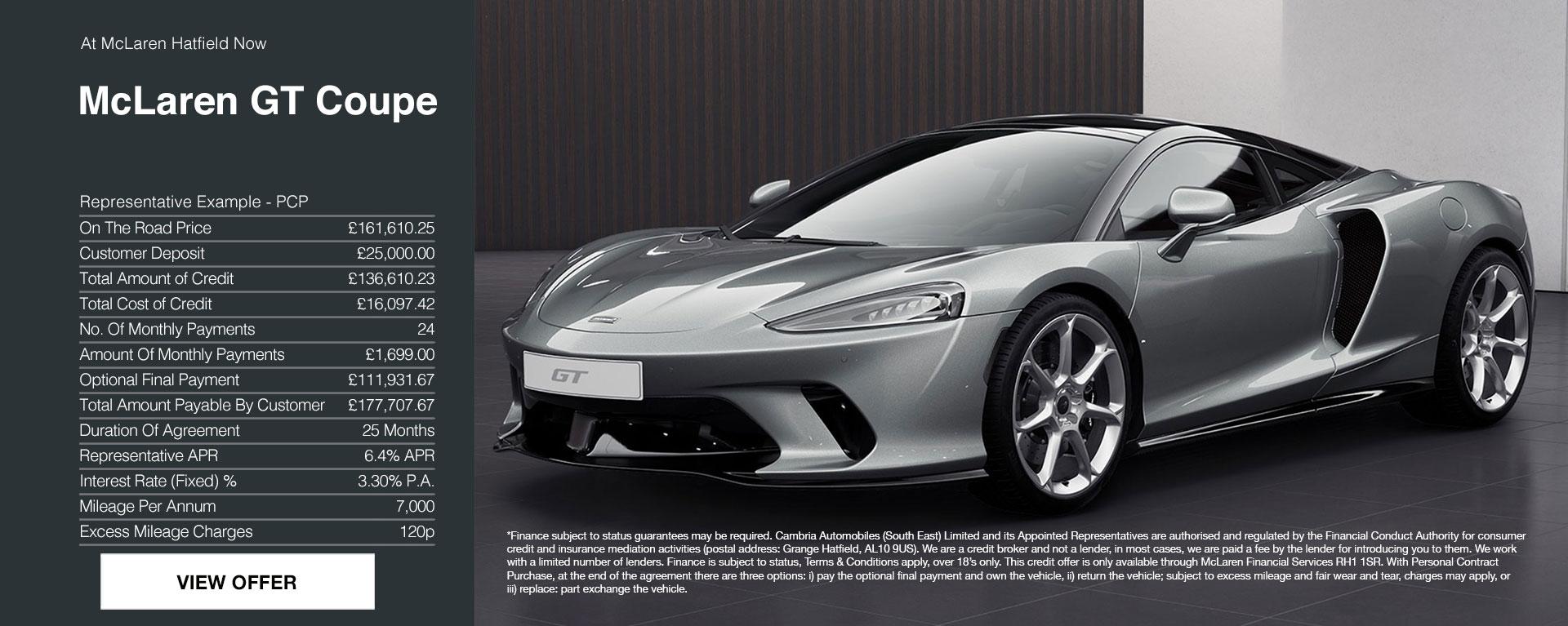 New McLaren GT at Grange McLaren