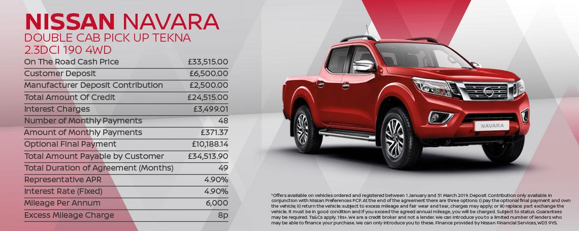 Nissan Navara Tekna Offer