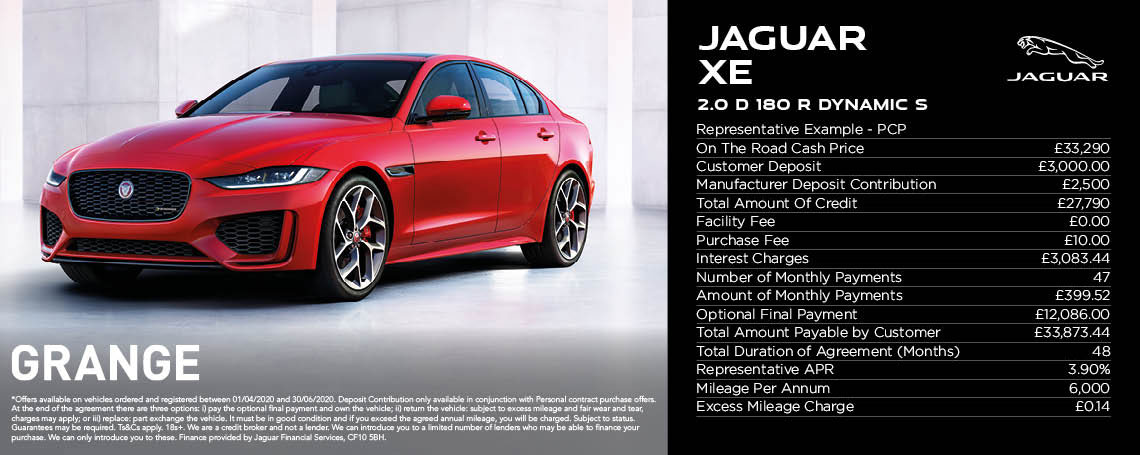 Jaguar XE PCP Offer
