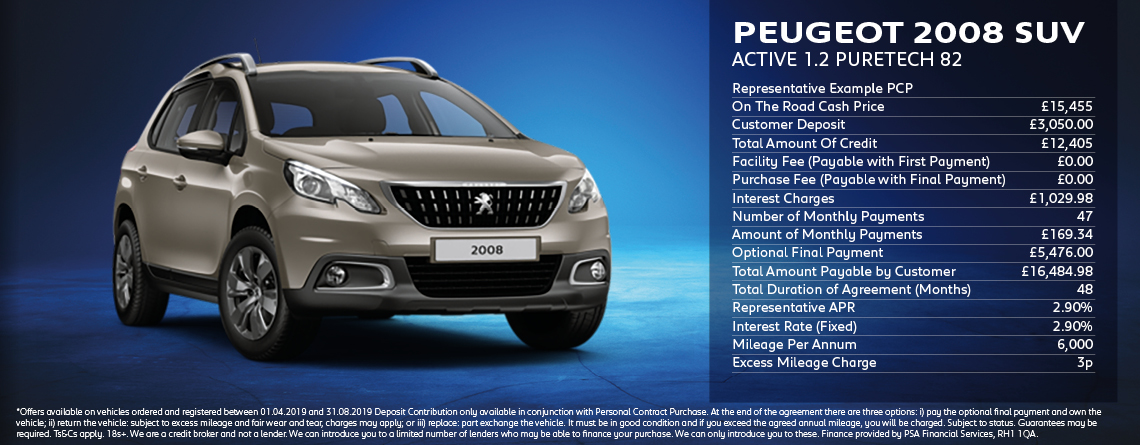 Peugeot 2008 SUV Offer
