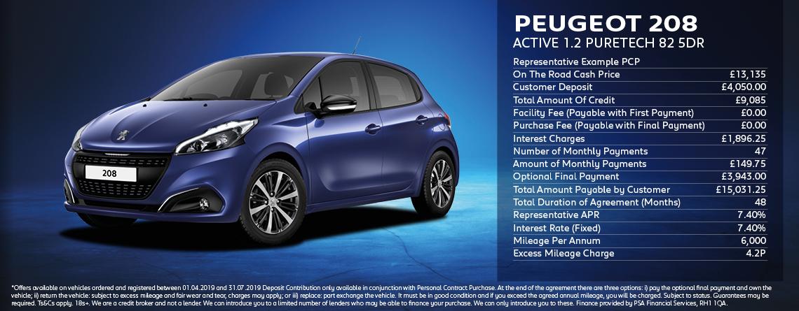 Peugeot 208 Active Offer