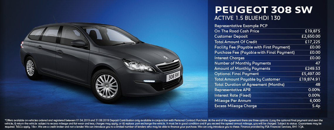 Peugeot 308 SW Active 1.5 BlueHDI Offer