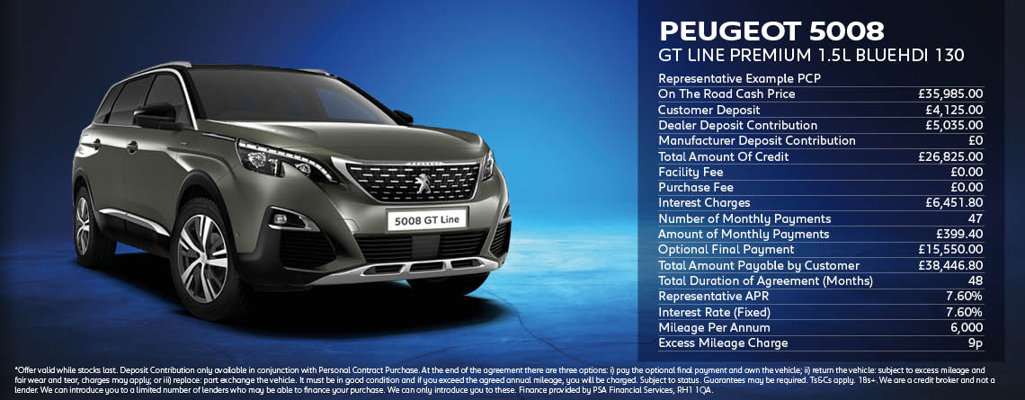 Peugeot 5008 SUV GT Line Premium Offer