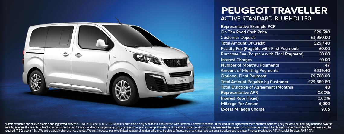 Peugeot Traveller Active Standard Offer