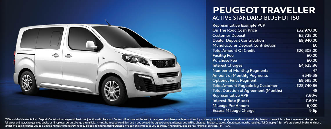 Peugeot Traveller Active Standard Offer