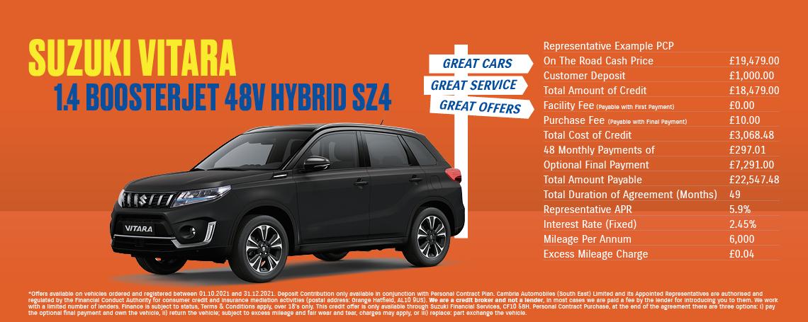 New Suzuki Vitara SZ-4 Q4 Offer