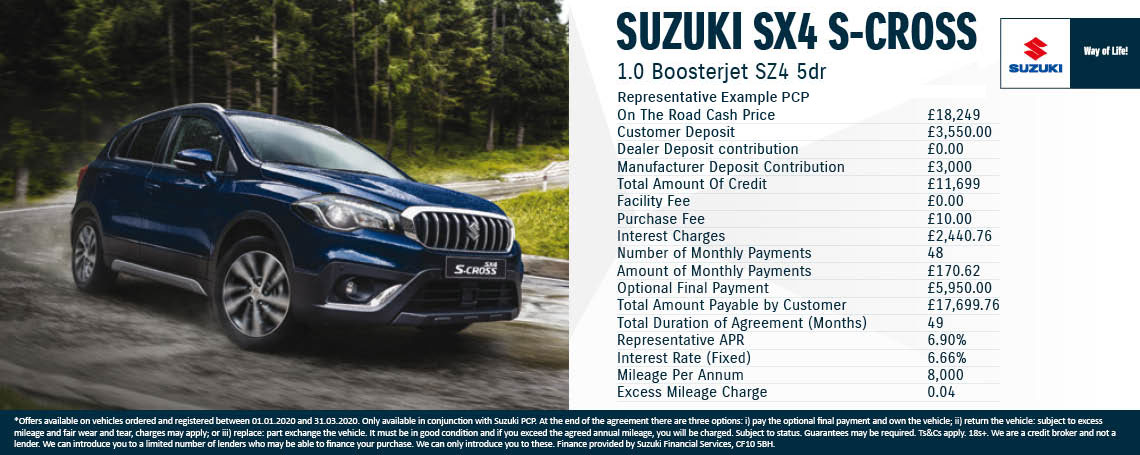 New Suzuki SX4 S-Cross Offer