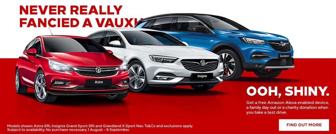 Vauxhall Test Drive Incentive Offer