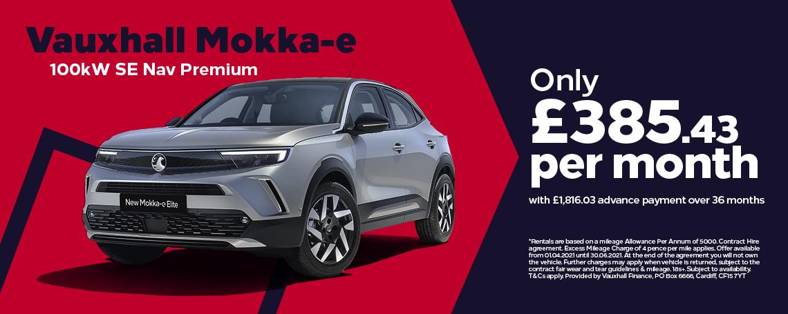 Vauxhall New Mokka-e SE Nav Premium Q1 Offer