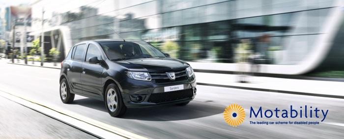 Dacia Motability at Motorparks